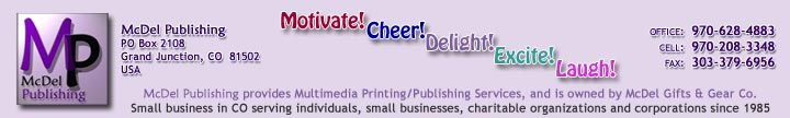 McDel Publishing small business website services - custom design and development, Grand Junction, CO