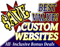 Online specials for your custom-designed website and online store!
